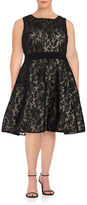 Xscape Evenings Plus Lace Fit-and-Flare Dress