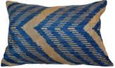 Orientalist Home Pia Ikat 16x24 Pillow - Blue