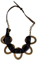 Marni Crystal Woven Ribbon Collar Necklace