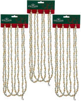 Kurt Adler Gold Bead Garland 3Pc Set