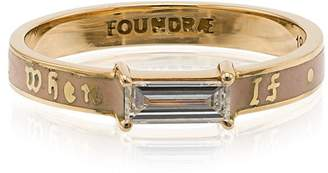 Foundrae If Not Now Then When diamond baguette band