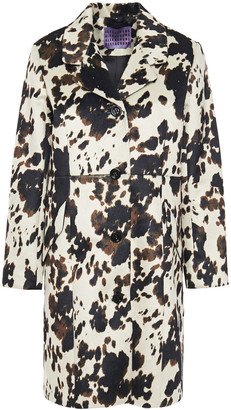 ALEXACHUNG Printed Faux Fur Coat