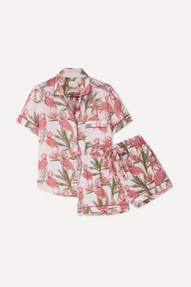 The Lazy Poet - Nina Printed Linen Pajama Set - Pink
