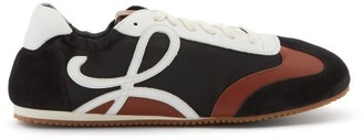 Loewe Ballet Runner Nylon And Leather Trainers - Black