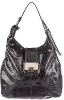 Jimmy Choo Embossed Patent Leather Hobo