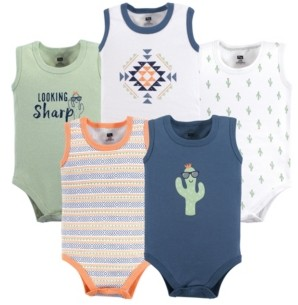 Hudson Baby Baby Vision 12-24 Months Unisex Baby Sleeveless Cotton Bodysuits, 5-Pack