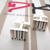 Pippa knowles jewellery Front Facing Barcode Cufflinks