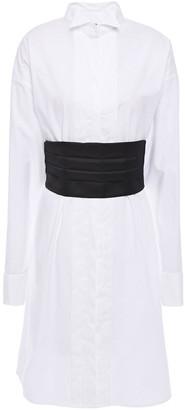 MM6 MAISON MARGIELA Pleated Cotton-poplin Shirt Dress