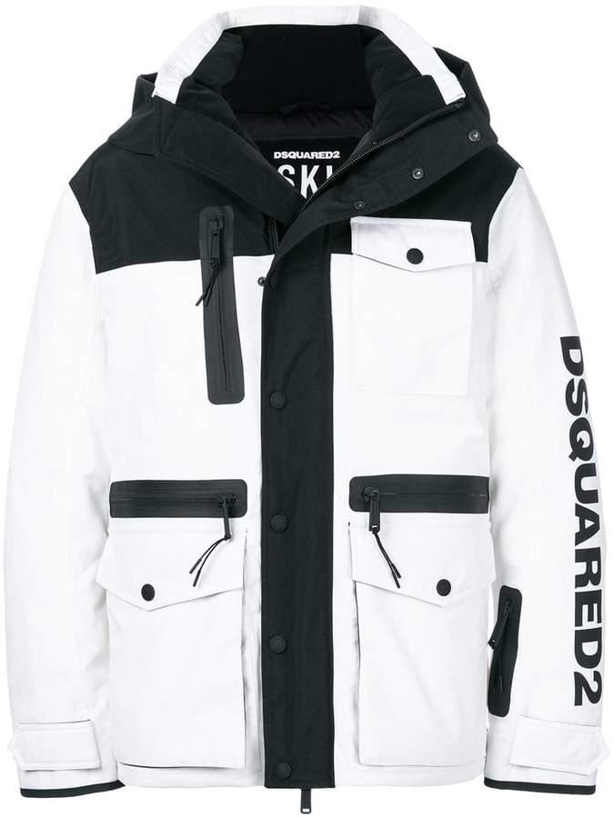 DSQUARED2 Ski logo padded jacket