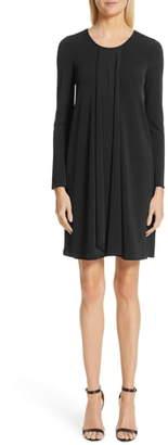 Emporio Armani Long Sleeve Pleated Dress