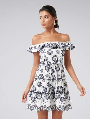 Ever New Addison Broderie Off-Shoulder Mini Dress