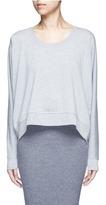 Alexander Wang Enzyme wash circular dip hem sweatshirt