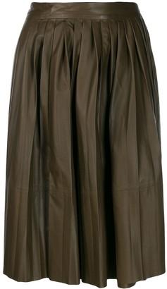 Yves Salomon Pleated Skirt