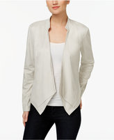 INC International Concepts Draped Faux-Suede Jacket, Only at Macy's