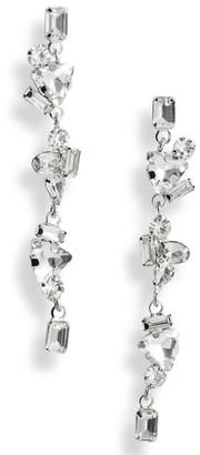 CRISTABELLE Fancy Crystal Cluster Linear Earrings