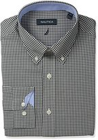 Nautica Men's Check Shirt with Button Down Collar with Black and White Check