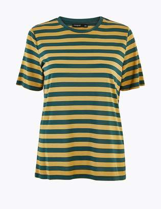 Marks and Spencer Striped Relaxed Fit T-Shirt