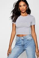 boohoo Tall Zenara Short Sleeve Crop Top