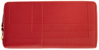 Comme des Garçons Wallets Red Medium Intersection Zip Wallet