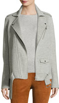 Theory Tralsmin New Divide Oversize Moto Jacket, Melange Gray