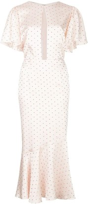 MARKARIAN Light Pink Ingrid Polka Dot Dress