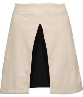 Alice + Olivia Alice+olivia Layered Suede Mini Skirt