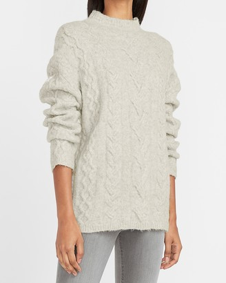 Express Cable Knit Mock Neck Sweater