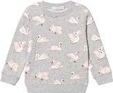 Stella McCartney Grey Swan Print Betty Sweatshirt