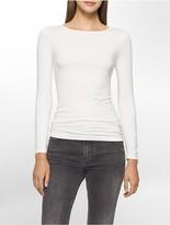 Calvin Klein Liquid Jersey Boatneck Long Sleeve Shirt