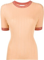 Chloé Eyelet-Embellished Rib-Knit Top