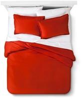 Threshold Solid Linen Duvet Cover Set Red