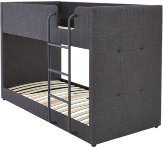 LubanaFabric Bunk Bed Frame with Mattress Options (Buy and SAVE!) - Grey