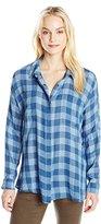 Buffalo David Bitton Women's Tralen Indigo Long Sleeve Button Down Shirt