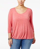 Jessica Simpson Trendy Plus Size Ramy Cutout-Back Top