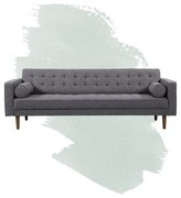 """Mid-Century MODERN Dayton 85"""" Square Arms Sofa Foundstone"""