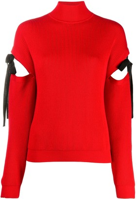Boutique Moschino Cutout Mock Neck Jumper