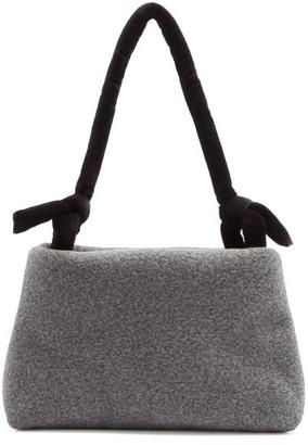 Kassl Editions Lady Knotted-strap Wool-blend Felt Shoulder Bag - Grey Multi