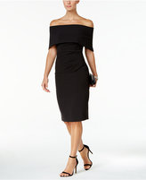 Vince Camuto Ruched Off-The-Shoulder Sheath Dress