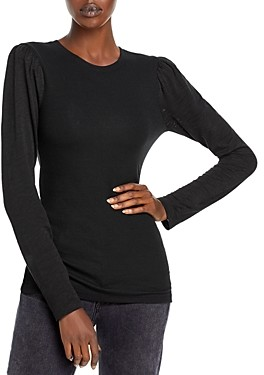 Goldie Ribbed Puff Sleeve Top