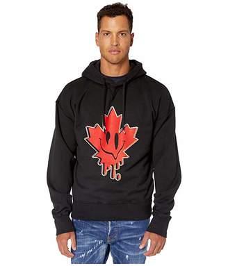 DSQUARED2 Acid Maple Leaf Hoodie Sweatshirt