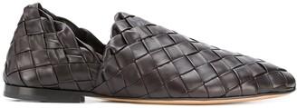 Bottega Veneta Woven Leather Slip-On Loafers