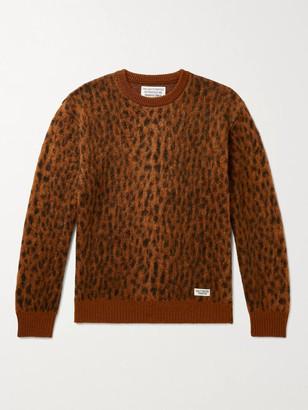 Wacko Maria Leopard Jacquard-Knit Sweater