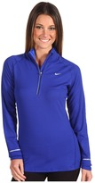 Nike Soft Hand L/S Half-Zip (Drenched Blue/Blue Glow/Reflective Silver) - Apparel