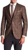 David Donahue Connor Light Brown Tartan Plaid Wool Classic Fit Sport Coat
