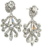 ABS by Allen Schwartz Silver-Tone Crystal Chandelier Earrings