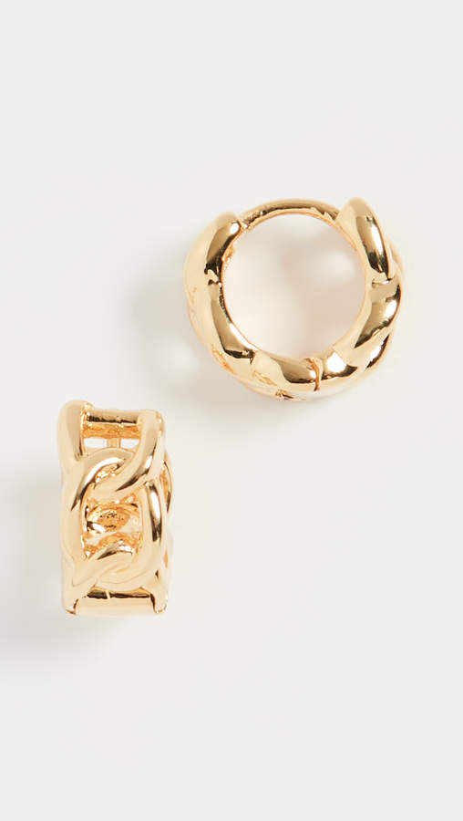 Luv Aj The Baby Curb Link Huggie Earrings