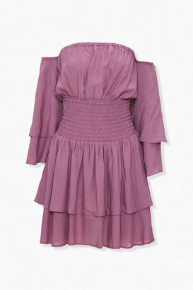 Forever 21 Off-the-Shoulder Flounce Dress