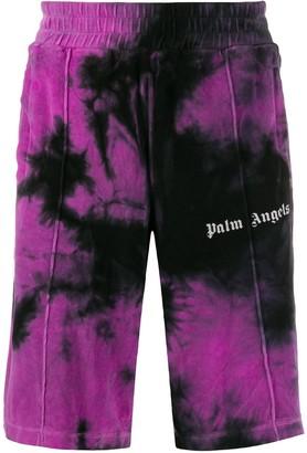 Palm Angels Tie-Dye Print Track Shorts