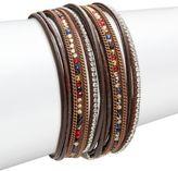 Noir Textured Wrap Bracelet