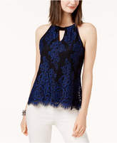INC International Concepts I.n.c. Petite Lace Halter Top, Created for Macy's